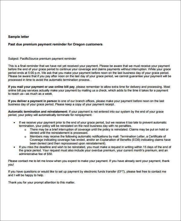 Payment Letter Templates - 6+ Free PDF Documents Download | Free ...