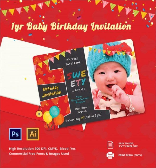 Sample Birthday Invitation Template - 40+ Documents in PDF, PSD ...