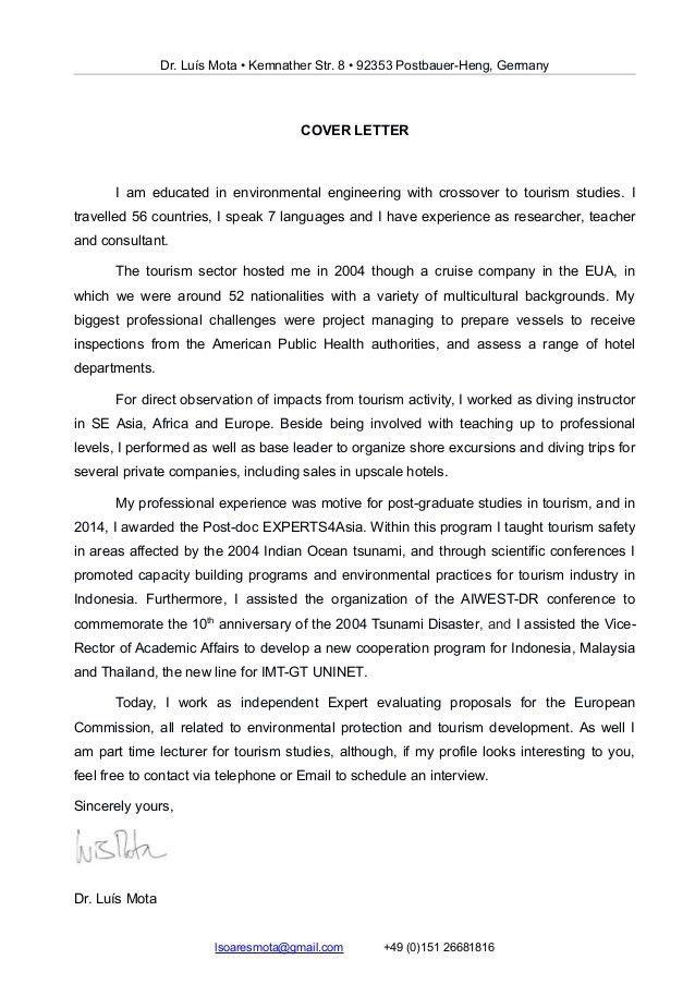 Luis Mota Cover Letter