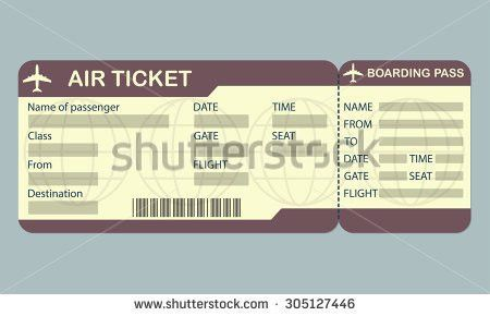 Blank Ticket Template. Ticket Blank Template Isolated On White ...