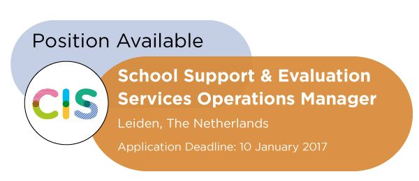 CIS Vacancy: School Support & Evaluation Services Operations Manager