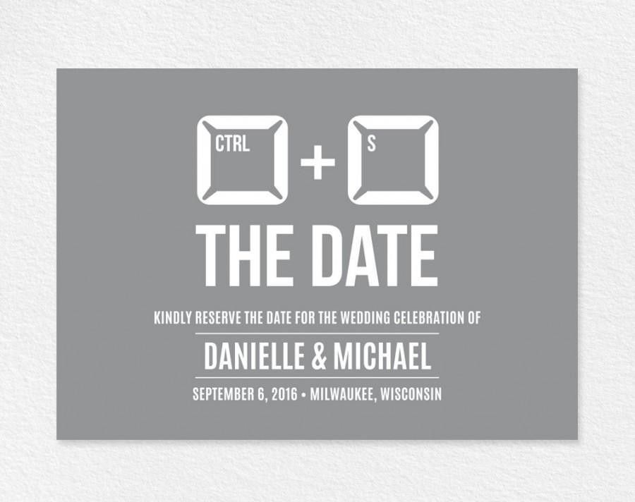 Funny Save The Date, Save The Date Printable, Unique Save The Date ...