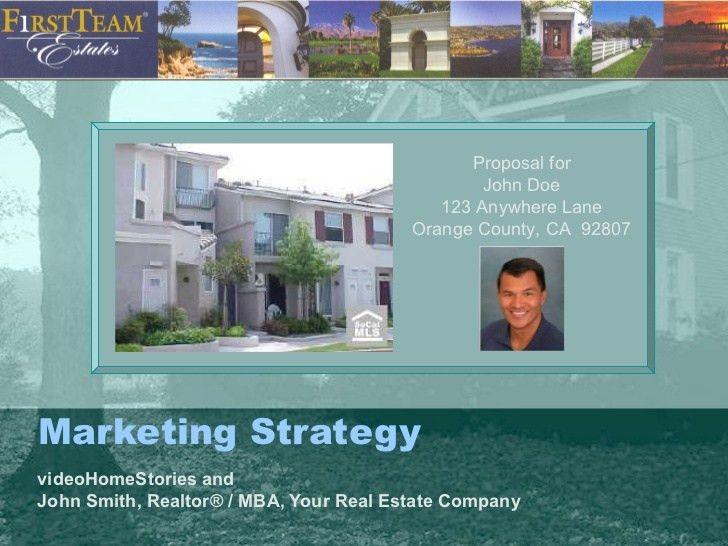 Sample Real Estate Agent Listing Presentation