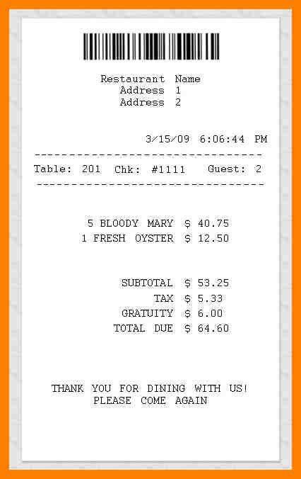 7+ restaurant receipt generator | handy man resume
