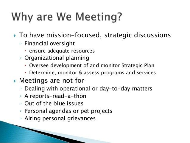 Effective Nonprofit Board Meetings: Mini Presentation
