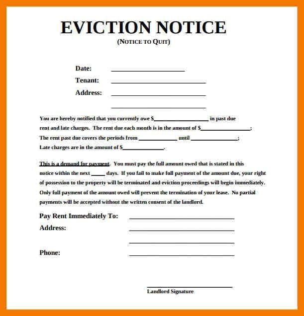 7+ examples of eviction letters | mailroom clerk