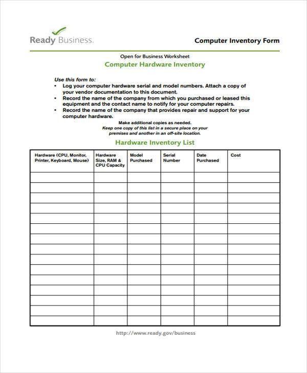 28+ Printable Inventory Templates | Free & Premium Templates