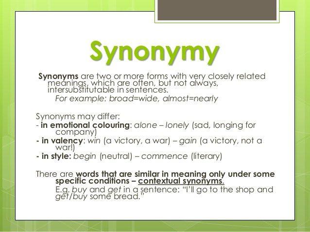 Lexicology