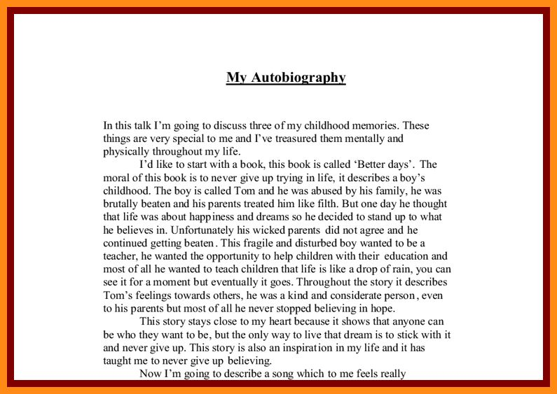 6+ autobiography sample for high school | action plan template