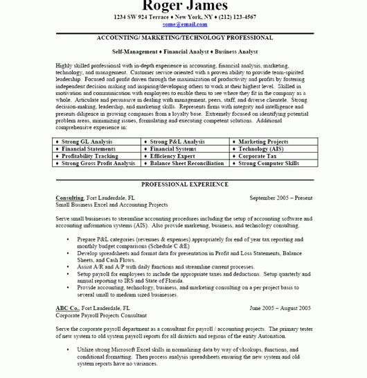 Download Sample Business Resume | haadyaooverbayresort.com