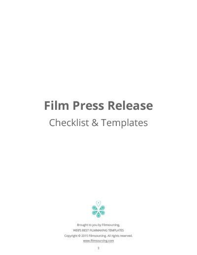 Writing a Press Release for Film - Movie Marketing Tips