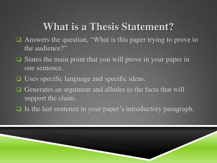 La week 3 thesis statements