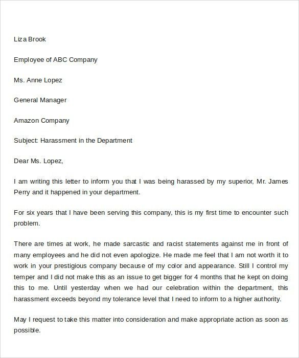 Sample Complaint Letter Format - 9+ Download Documents in PDF , Word