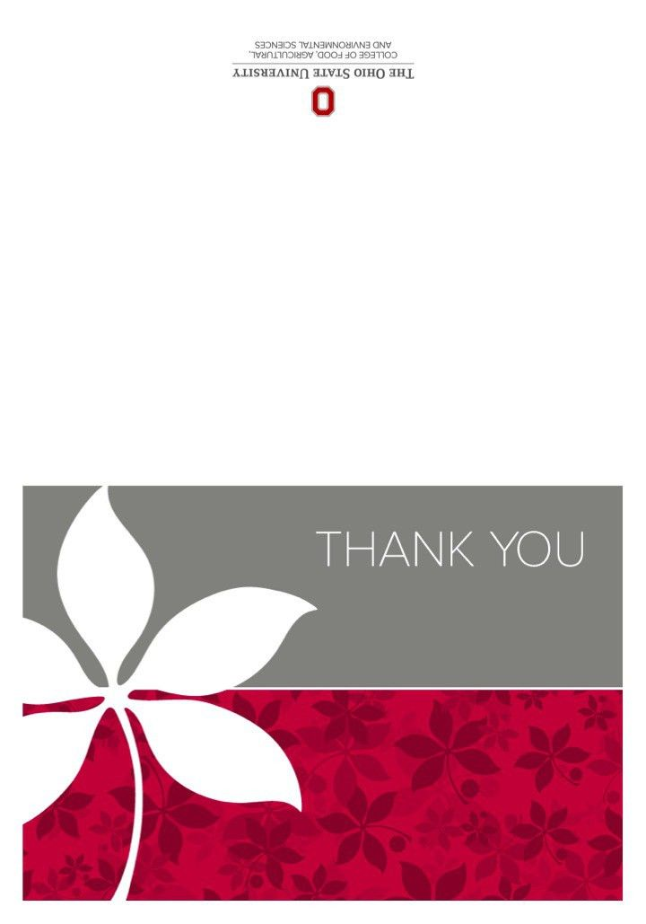 Thank You Card Templates | The CFAES Brand