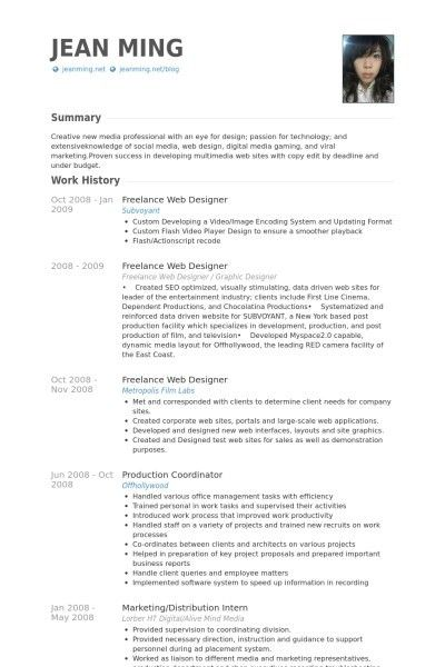 Web Designing Resumes Sample. 202 best resume templates images on ...