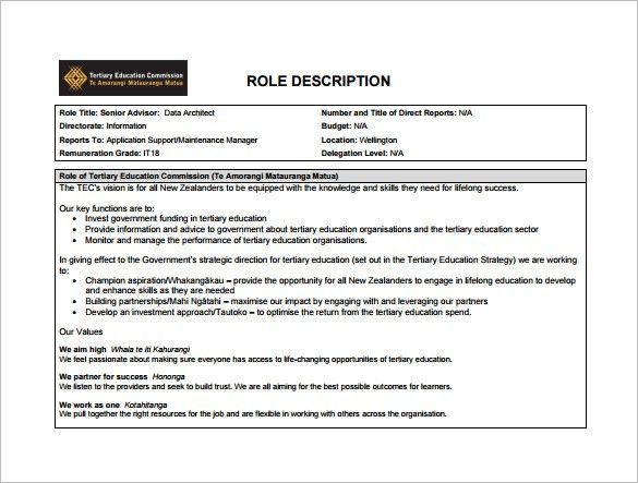 Architect Job Description Template – 10+ Free Word, PDF Format ...