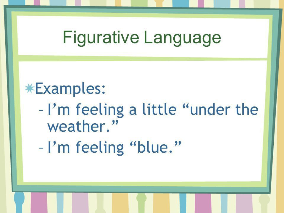 Figurative Language Review - ppt download