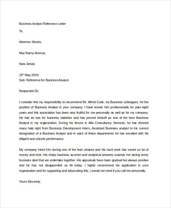 Awesome Collection of Sample Reference Letter From Employer To ...
