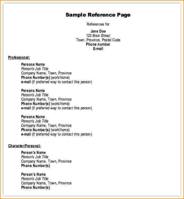 References Template.Resume References Sample Page.jpg ...