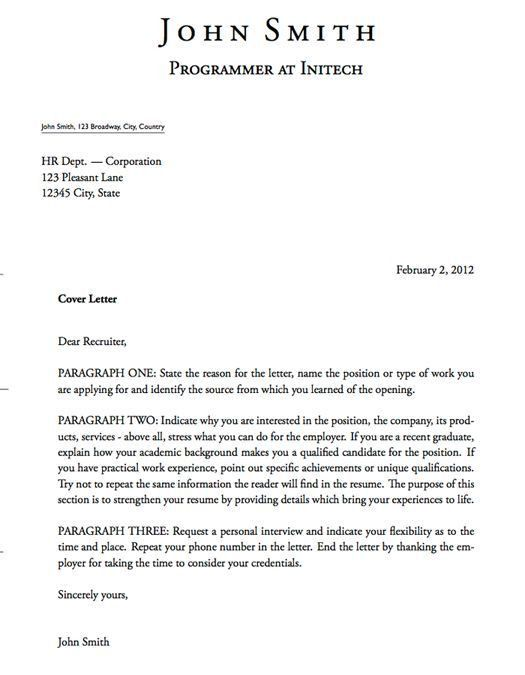 good cover letter tips