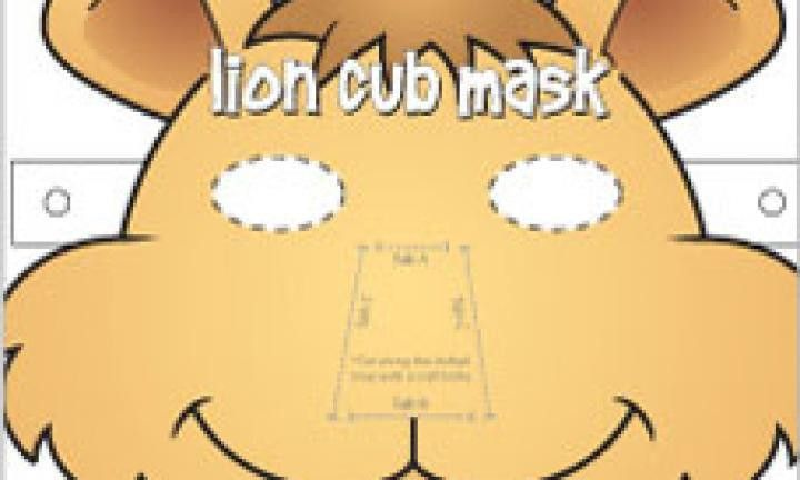 Lion cub face mask template - Kidspot