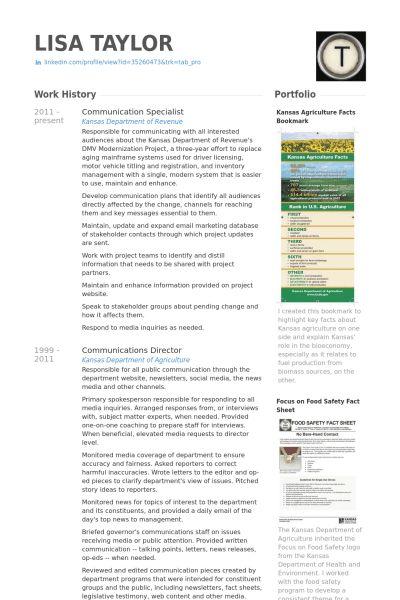 Communication Specialist Resume samples - VisualCV resume samples ...