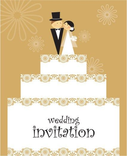 Set of wedding invitation cards design vector Free vector in ...