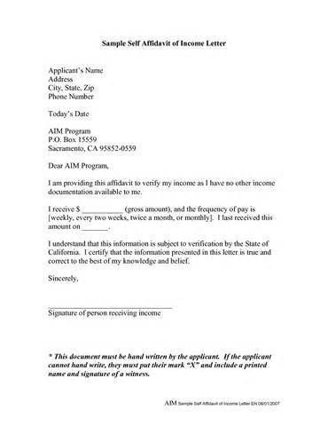 Affidavit Letter Format - Best Template Collection