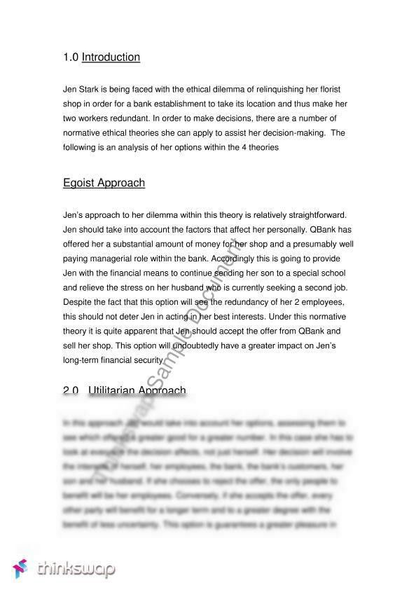 Case study analysis examples format