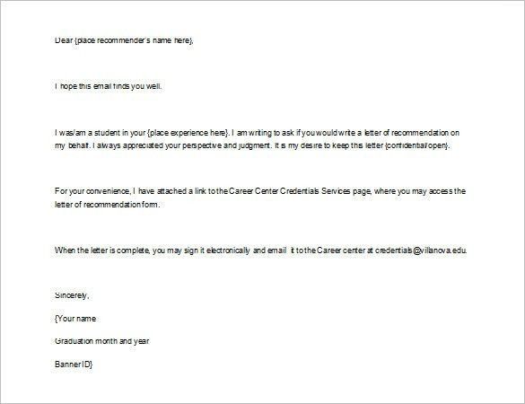 Recommendation Letter. Examples Of Letter Of Recommendation ...