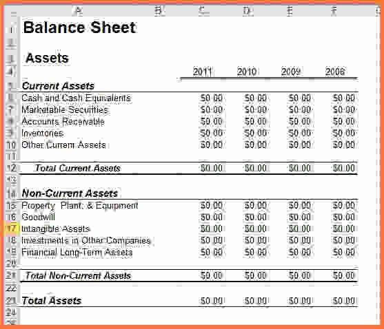 Balance Sheet Template Excel.Simple Balance Sheet Template For ...