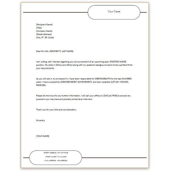 free cover letters general latex cover letter example pdf template ...