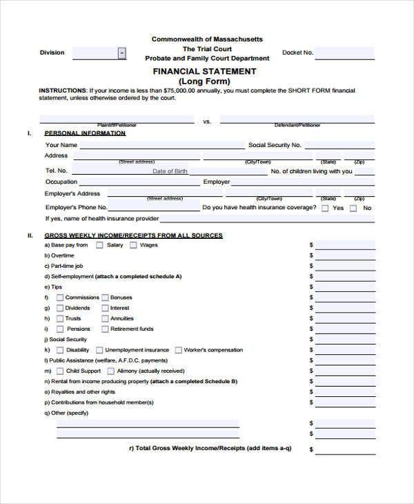 Printable Financial Statement] Best 25 Financial Statement Pdf ...