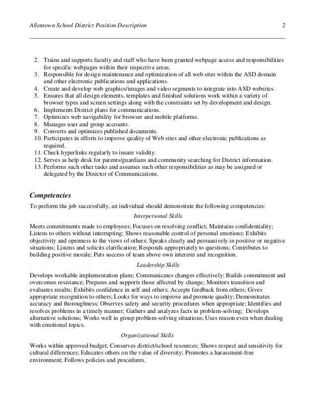Multimedia Developer Specialist job description