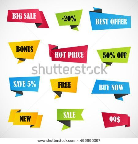 Vector Stickers Price Tag Banner Label Stock Vector 479702419 ...