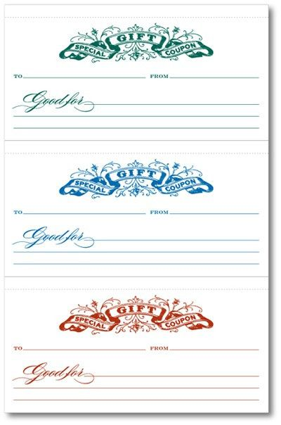 Blank Coupon Template. Coupon Template 1 Coupon 1 Last-Minute Gift ...
