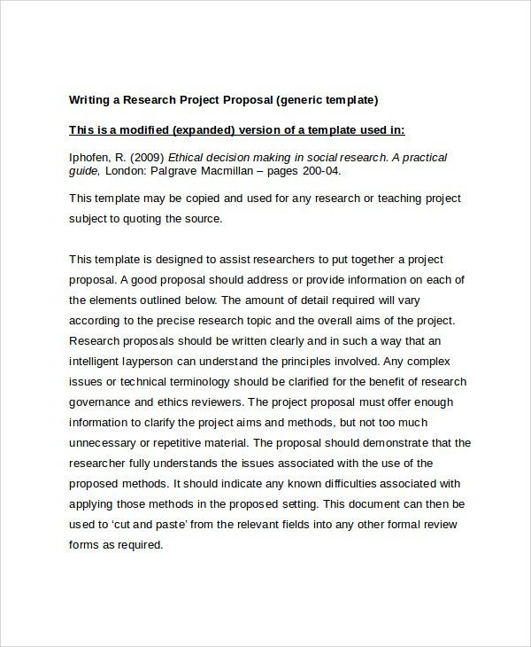 Sample Research Project Template -7+ Free Documents Download in ...