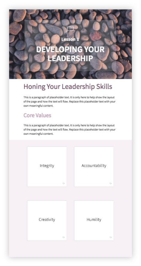 Training guide template for self-paced learning. | Inkling