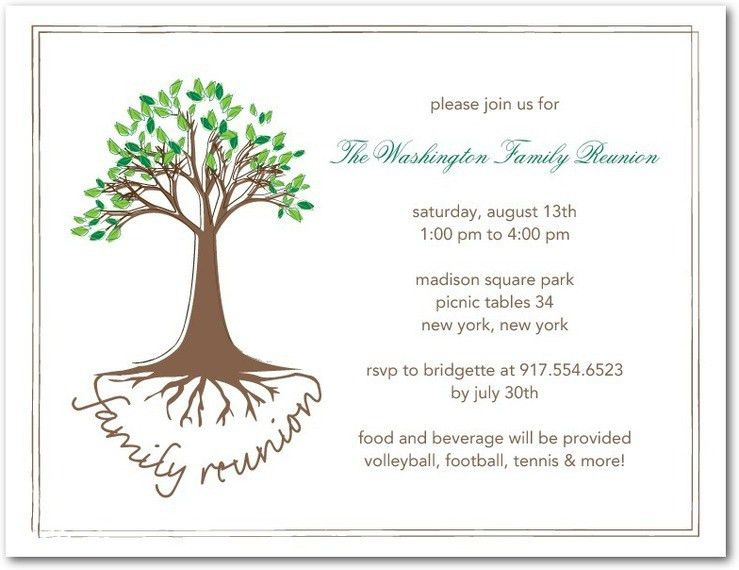 5 Best Websites for Family Reunion Invitations - Reunion Party ...