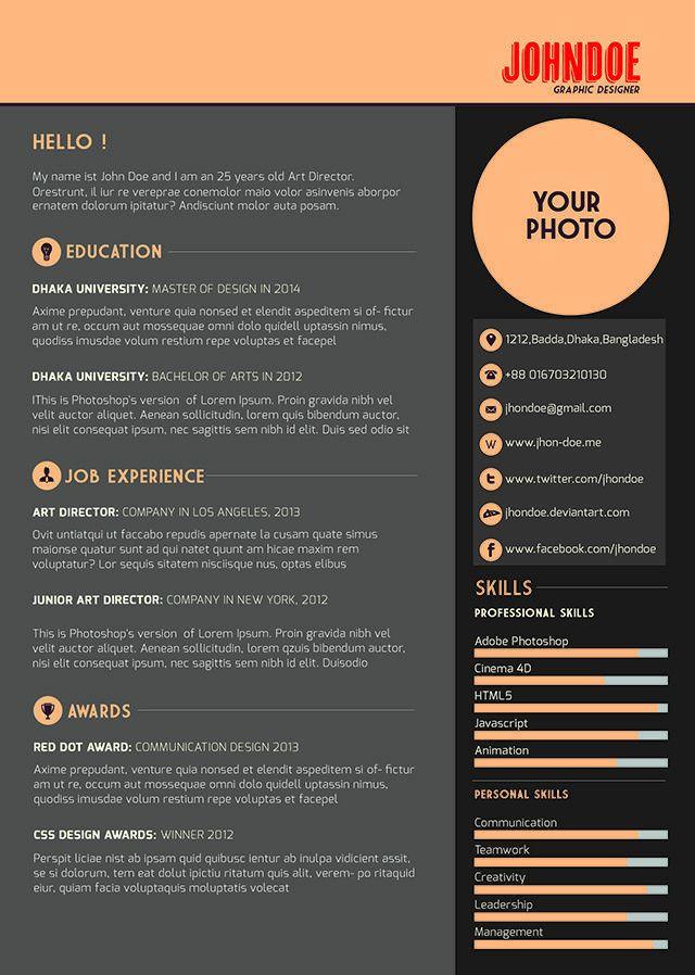 26 best modern cv sample images on Pinterest | Resume templates ...