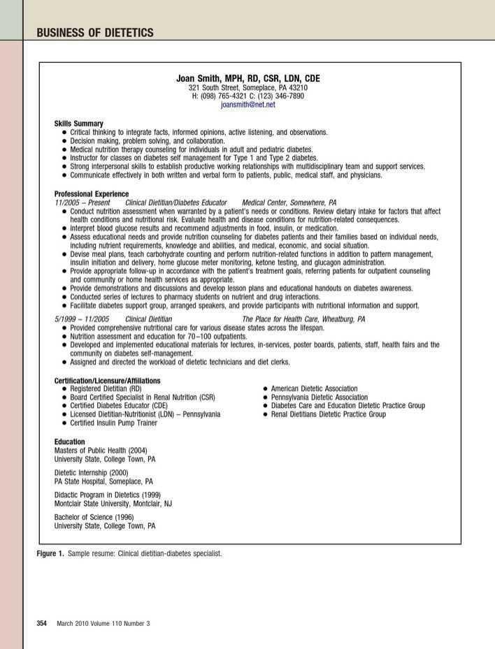 registered dietitian resume dietitian resume template 6 free word