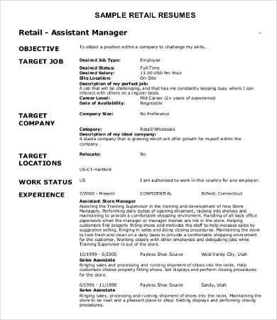 Sample Retail Resumes - 9+ Free Word, PDF Documents Download ...