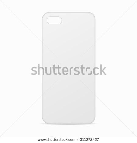 White Clean Template Cover Phone Case Stock Vector 311272427 ...