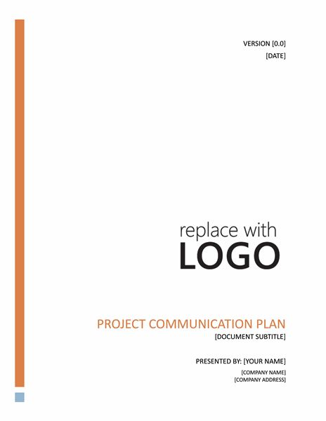 Project communication plan - Office Templates
