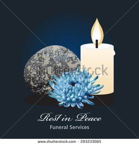 Funeral Ceremony Invitation Card Vector Template Stock Vector ...