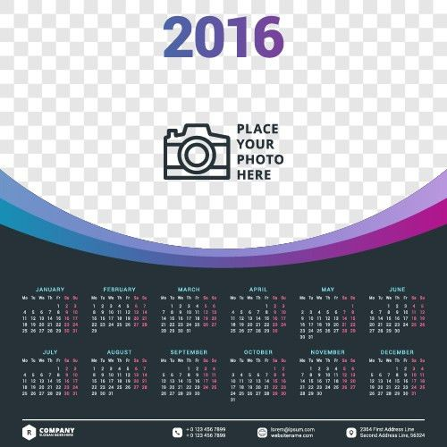 Calendar Template Psd