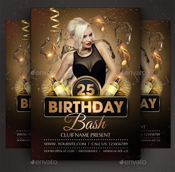12+ Amazing Birthday Party PSD Flyer Templates & Designs | Free ...