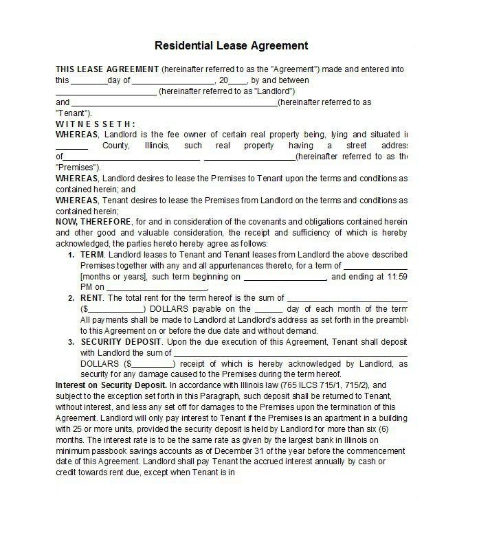 42 Free Rental Application Forms & Lease Agreement Templates ...