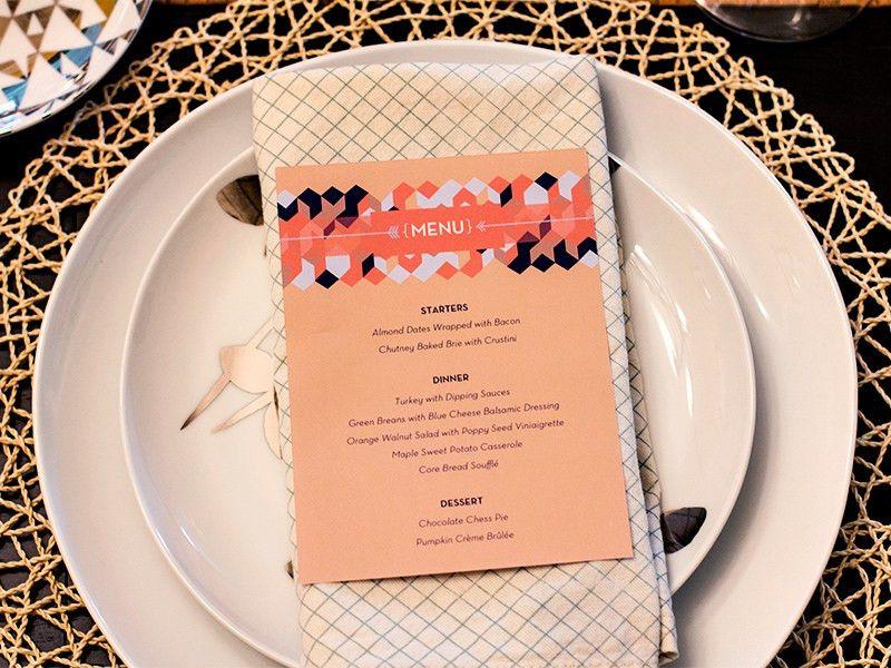 Thanksgiving Menu Printable - Sarah Hearts