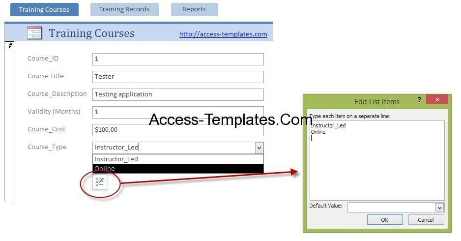 Employee Training Plan Template for Microsoft Access | Access ...